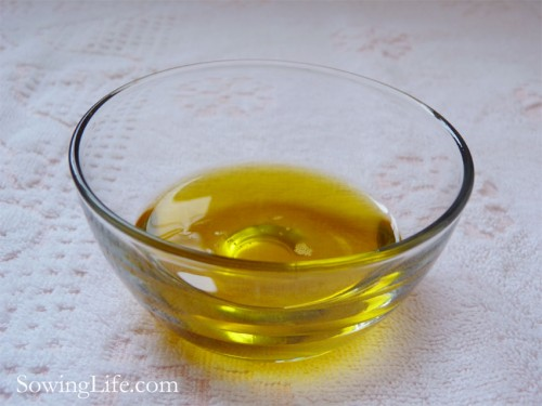 Three tablespoons of flaxseed oil.